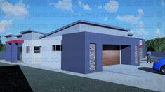4 Bedroom House Plan – My Building Plans South Africa My Building, Building Plans, Architect Fees, Single Storey House Plans, 4 Bedroom House Plans, Construction Drawings, Marketing Budget, Roof Plan, Double Garage