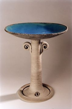 Ceramics by Lesley McShea at Studiopottery.co.uk - Medium Birdbath.