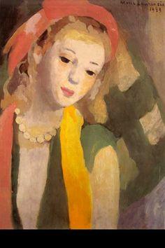 "Marie Laurencin (French, 1883-1956)  ""FEMME AU FOULARD""  ~Repinned Via Francine Schwartz"