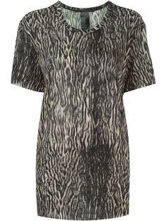 HAIDER ACKERMANN Leopard Print  T-Shirt. #haiderackermann #cloth #t-shirt