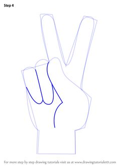 5cca18b3d Learn How to Draw Peace Sign Hand (Symbols) Step by Step : Drawing .