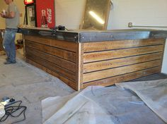 Commercial Countertop for a Gym - Industrial - Kitchen Countertops - Toronto - REBARN