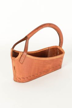 Wine Basket in Leather 40's