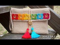 Crochet Bohemian Clutch - by Donna Wolfe from Naztazia