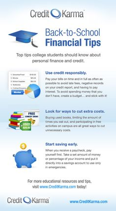 Our #backtoschool present: an infographic full of great financial tips for keeping your #credit healthy!