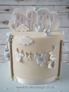 baby washing line babyshower cake