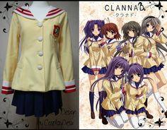 Clannad School girl uniform cosplay outfit by CosplayDesu on Etsy, $105.00