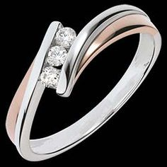 Bague trilogie diamant Ambra or rose - blanc - 0.16 carat 520 € (-46%)