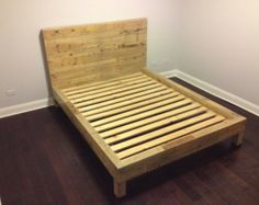 The Michelle Grey Weathered Reclaimed Wood Bed By Thelakenest