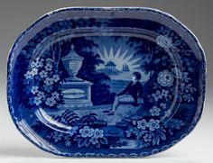 "Northeast Auctions 8/20/16 Lot: 126.   Estimate: $3,000 - $5,000. Realized: $3,000 (2,500).  Description:  'LAFAYETTE AT WASHINGTON'S TOMB,' STAFFORDSHIRE DARK BLUE TRANSFER-PRINTED PLATTER, THOMAS MAYER, STOKE, 1826-35. Impressed numeral ""9."" Length 9 ¾"".  Provenance: William & Teresa Kurau Antiques, October 31, 1997."