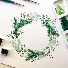 🌿 throw back that greenery💚 •used: watercolor: @royaltalens + brush: @princetonbrush + paper: @clairefontaine_officiel •