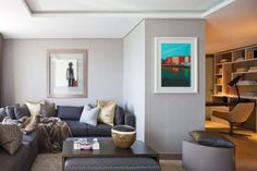 light grey walls with white ceilings