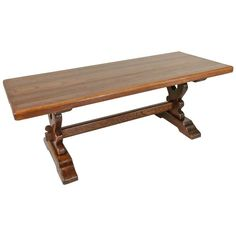 French Oak Farm Table Dining Table Trestle Table | From a unique collection of antique and modern dining-room-tables at https://www.1stdibs.com/furniture/tables/dining-room-tables/