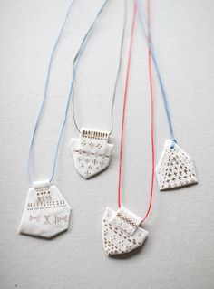 Lovely new necklace made with white porcelain by jewelry designer Kimiko Suzuki. Each piece is carefully crafted by hand in Kimiko's...