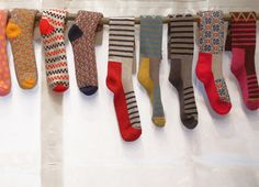 Fine Little Day fine  examples of color worak socks; most of them would be easy