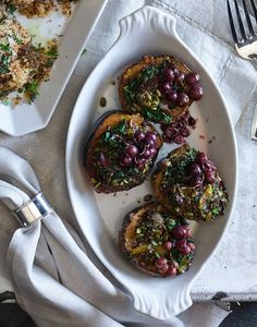 Roasted Acorn Squash with Wild Rice and Grapes | Williams-Sonoma Taste