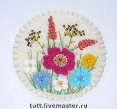 """Брошь """"Степная"""" - брошь с маками,степные цветы и травы,полевые цветы,зонтики"""