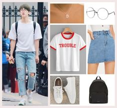 Fashion Idol, Kpop Fashion Outfits, Girl Outfits, Casual Outfits, Womens Fashion, Bts Inspired Outfits, Bts Jin, Aesthetic Clothes, Korean Fashion