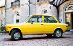 1971 1979 Fiat 128 Left Side View  Photo - my first car - in kermit green