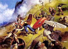 "Etruscans battle Celtic raiders, northern Italy, 5th century BC"", Angus McBride"