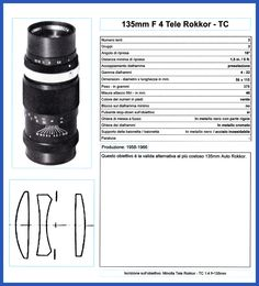 135mm f.4 Tele Rokkor TC - 1958-66
