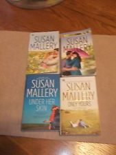 4 Susan Mallery:Shelter in Soldier's Arms,Summer Days, Only Yours, UnderHer Skin