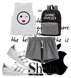 """Shein Contest"" by neiraalajmovic ❤ liked on Polyvore featuring adidas Originals and Vans"