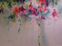 Fuscia Painting