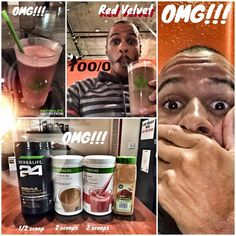 "***OMG RED VELVET CAKE FLAVOR*** Thank you to Garrain Jones for this yummy shake!!!! ""I just made the shake of a lifetime ahhhhhhhhhhhhhhhh RGED VELVET NOM NOM NOM NOM my taste buds looooooooooove me mmmmm mmmmm mmmmmm""  1/2 scoop rebuild strength 2 scoops wild berry formula one shake 2 scoops chocolate protein drink mix Add cinnamon  Thank you Garrain Jones!"