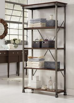 Features:  -Multifaceted storage unit will meet all your storage needs.  -Orleans Storage stand is equipped with four fixed reinforced shelves.  -Levelers on the feet for added stability.  -Multi-Func