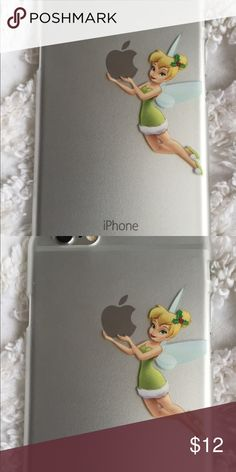 DISNEY's TINKER BELL CLEAR IPHONE 6/6s CASE iPhone 6/6s Clear Plastic Hard Phone Case. Tinker Bell Holding the Apple Accessories Phone Cases