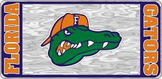Florida Gators College Football - Gator Hat Back - Mirrored License Plate - Car Truck SUV