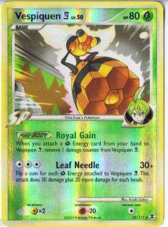 Pokemon Card Rising Rivals Reverse Holo Rare Vespiquen E4 35/111 FREE comb ship