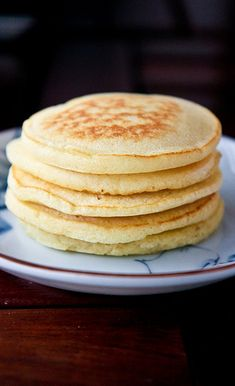 Fluffy Pancakes (regular milk and whipped egg whites). I would add a touch more flour and salt next time. Delicious!