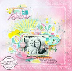 Scrapbook Expo Spotlight with Paige Evans - American Crafts Amy Tan Rise & Shine collection, MAMBI, A Flair For Buttons, The Cut Shoppe Digital Scrapbook, Scrapbook Expo, Kids Scrapbook, Scrapbook Sketches, Scrapbook Paper Crafts, Scrapbook Albums, Scrapbooking Layouts, Scrapbook Cards, American Crafts