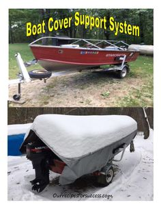 Do you have a boat setting outside that the sun and weather are taking its toll on? Here's a boat cover support system that can help protect your investment. Canoe Boat, Bass Boat, Pontoon Boat, Aluminum Fishing Boats, Aluminum Boat, Flat Bottom Jon Boat, Outboard Motor Stand, Boat Cover Support, Fishing Boat Accessories