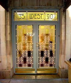 Image detail for -David Cobb Craig: Art Deco Doors in N. Art Deco Door, Art Deco Era, Art Nouveau, Unique Doors, Art Deco Design, Art Deco Fashion, Stairways, Architecture, Art World