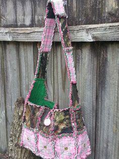 Mossy oak and john Deere rag purse Made by me @ www.Facebook.com/handmade.by.jenni