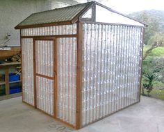12 Great DIY Greenhouse Projects • Lots of Ideas and Tutorials! Including this cool plastic bottle greenhouse (what a great idea and re-use of materials) from 'ana white'.