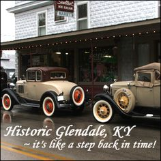 Historic Glendale Ky home to the Whistlestop restaurant.