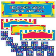 Carnival Personalized Banner Kit