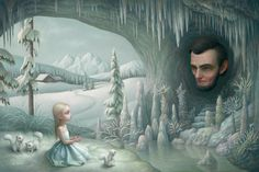 Mark Ryden - Illustration - PopSurrealism - Grotto of old Mass