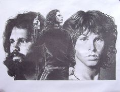 Jim Morrison Montage Collage Original Sketch Art by Innerwallz, $15.00