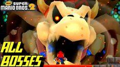 New Super Mario Bros. 2 - ALL Bosses (No Damage) Super Mario Bros, Morton Koopa, Nintendo 3ds, Boss, Tower, Computer Case, Towers, Building