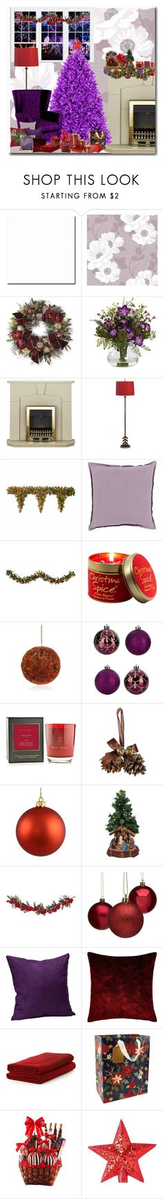 """CHRISTMAS TREE LIGHTS"" by nefertiti1373 ❤ liked on Polyvore featuring interior, interiors, interior design, home, home decor, interior decorating, House & Home, Frontgate, Scalamandré Maison and National Tree Company"
