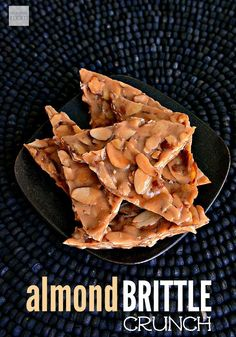 This Almond Brittle Crunch Recipe uses only four ingredients and can be made in less than 10 minutes. Pretty soon you will be saying, Peanut-Who?