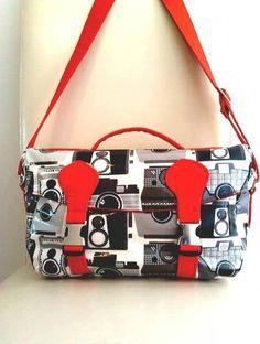 New Retro Cameras Large Camera Bag Wipe By Sewsofia