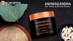 ASHWAGANDHA CAPSULE: For Virility & Overall Vitality that energises body and mind. It curbs stress, improves brain function and memory. It improves joint fle. Bodily Functions, Uric Acid, Blood Vessels, Stress And Anxiety, Natural Healing, How To Relieve Stress, Ayurveda, Herbalism, Pure Products