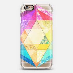 #patchwork #geometry #yellow #triangle #pink Phone Case | iPhone 6 | Casetify | Graphics | Painting | Transparent  | Micklyn Le Feuvre