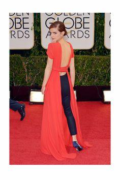 Globos de Oro 2014. Emma Watson con un look muy original de Dior.